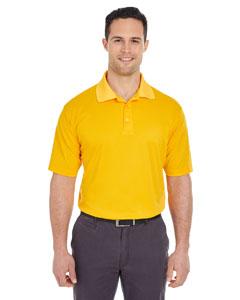Gold Men's Cool & Dry Mesh Pique Polo