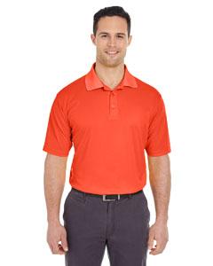 Orange Men's Cool & Dry Mesh Pique Polo