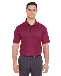 Maroon Men's Cool & Dry Mesh Pique Polo