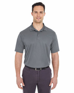 Charcoal Men's Cool & Dry Mesh Pique Polo