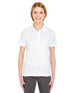 White Ladies' Cool & Dry Mesh Pique Polo