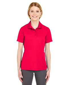 Red Ladies' Cool & Dry Mesh Pique Polo