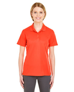 Orange Ladies' Cool & Dry Mesh Pique Polo