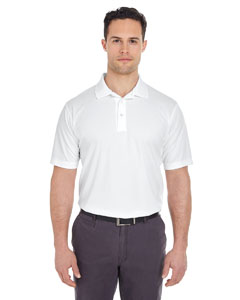 White Men's Tall Cool & Dry Mesh Piqué Polo