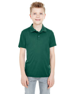 Forest Green Youth Cool & Dry Mesh Piqué Polo
