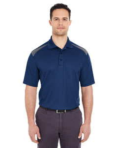 Navy/ Charcoal Adult Cool & Dry 2-Tone Mesh Piqué Polo