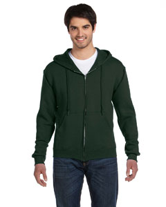 Forest Green 12 oz. Supercotton™ 70/30 Full-Zip Hood