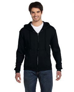 Black 12 oz. Supercotton™ 70/30 Full-Zip Hood