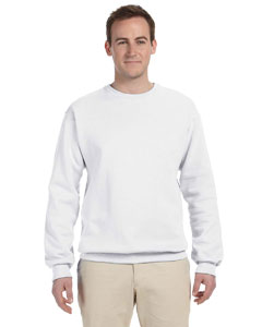 White 12 oz. Supercotton™ 70/30 Fleece Crew