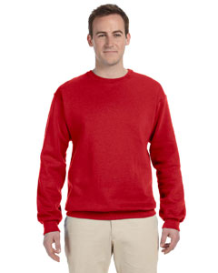 True Red 12 oz. Supercotton™ 70/30 Fleece Crew
