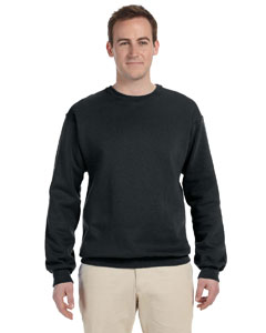 Black 12 oz. Supercotton™ 70/30 Fleece Crew