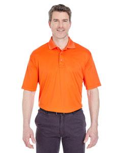 Orange Men's Cool & Dry Sport Performance Interlock Polo