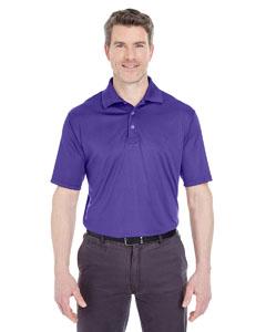 Purple Men's Cool & Dry Sport Performance Interlock Polo