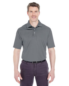 Charcoal Men's Cool & Dry Sport Performance Interlock Polo