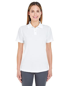 White Ladies' Cool & Dry Stain-Release Performance Polo