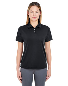 Black Ladies' Cool & Dry Stain-Release Performance Polo