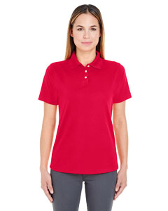 Red Ladies' Cool & Dry Stain-Release Performance Polo