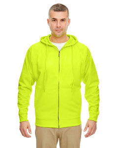 Lime Adult Rugged Wear Thermal-Lined Full-Zip Hooded Fleece