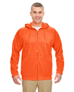 Bright Orange Adult Rugged Wear Thermal-Lined Full-Zip Hooded Fleece
