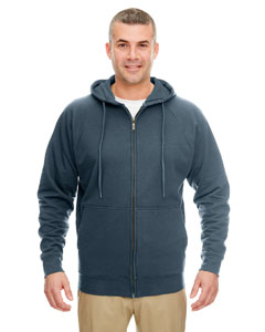 Drk Heather Gray Adult Rugged Wear Thermal-Lined Full-Zip Hooded Fleece