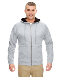 Hthr Grey/ Black Adult Rugged Wear Thermal-Lined Full-Zip Hooded Fleece