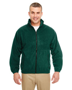 Forest Green Iceberg Fleece Full-Zip Jacket