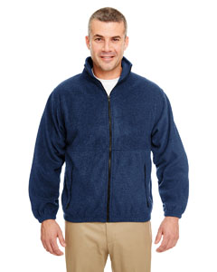 Navy Iceberg Fleece Full-Zip Jacket