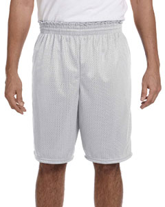 Silver Grey 100% Polyester Tricot Mesh Shorts