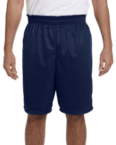 Navy 100% Polyester Tricot Mesh Shorts