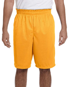 Gold 100% Polyester Tricot Mesh Shorts