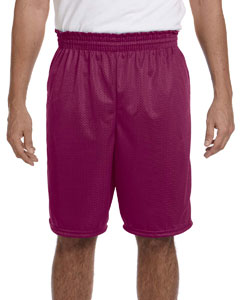 Maroon 100% Polyester Tricot Mesh Shorts