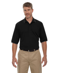 Black 010 Men's Cotton Jersey Polo