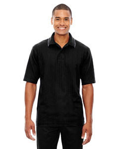 Black 703 Edry® Men's Needle-Out Interlock Polo