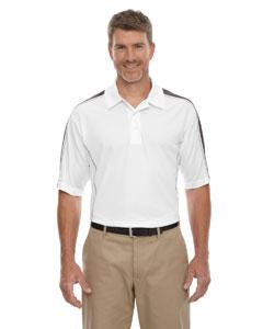 White/blkslk 866 Eperformance™ Men's Piqué Colorblock Polo