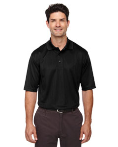 Black 703 Eperformance™ Men's Jacquard Piqué Polo