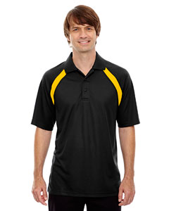 Black/gold 436 Eperformance™ Men's Colorblock Piqu  Polo