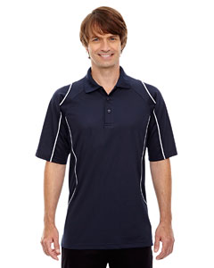 Classic Navy 849 Eperformance™ Men's Velocity Snag Protection Colorblock Polo with Piping