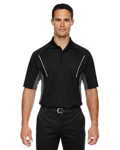 Black 703 Eperformance™ Men's Parallel Snag Protection Polo with Piping