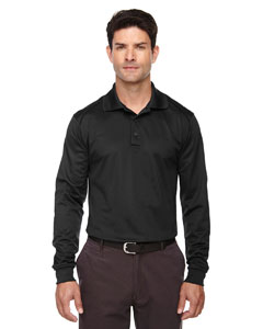 Black 703 Eperformance™ Men's Armour Snag Protection Long-Sleeve Polo