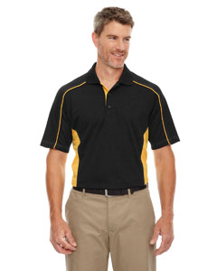 Blk/cmps Gld 464 Eperformance™ Men's Tall Fuse Snag Protection Plus Colorblock Polo