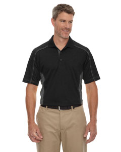 Black 703 Eperformance™ Men's Tall Fuse Snag Protection Plus Colorblock Polo