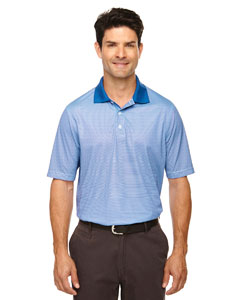 Nauticl Blue 413 Eperformance™ Men's Launch Snag Protection Striped Polo