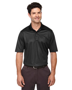 Black 703 Eperformance™ Men's Launch Snag Protection Striped Polo