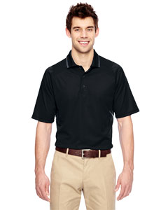Black 703 Eperformance™ Men's Propel Interlock Polo with Contrast Tape