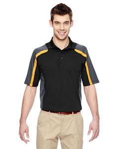 Blk/cmpsgld 464 Men's Eperformance™ Strike Colorblock Snag Protection Polo