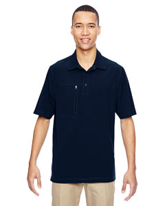 Navy 007 Men's Excursion Crosscheck Performance Woven Polo