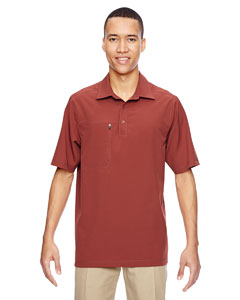 Rust 489 Men's Excursion Crosscheck Performance Woven Polo