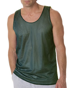 Forest/ White Adult Mesh Reversible Tank