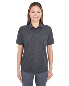 Black Heather Ladies' Whisper Piqué Polo