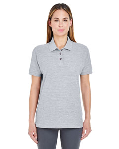 Heather Grey Ladies' Whisper Piqué Polo